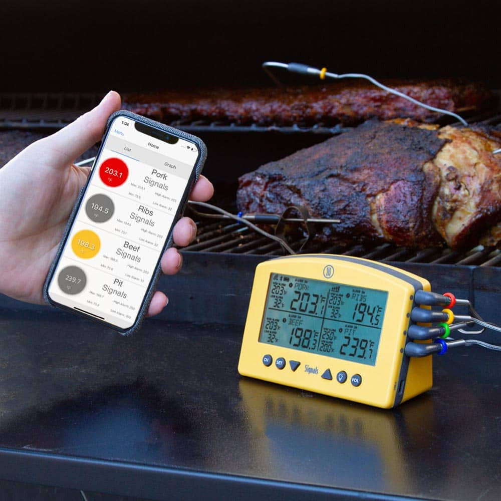 Signals™4-Channel Wi-Fi-Bluetooth BBQ Alarm Thermometer2