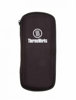 Thermometer Hardcover Zippered Case