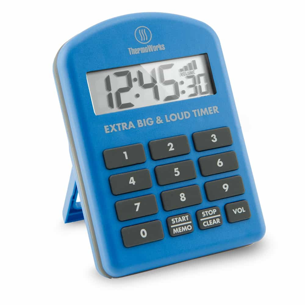 Thermoworks Extra Big and Loud Timer Blue