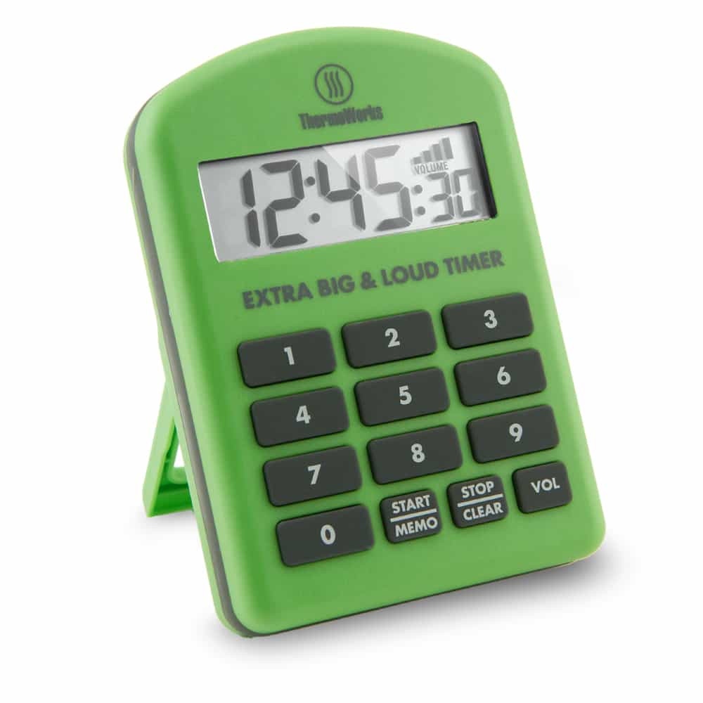 Thermoworks Extra Big and Loud Timer Green