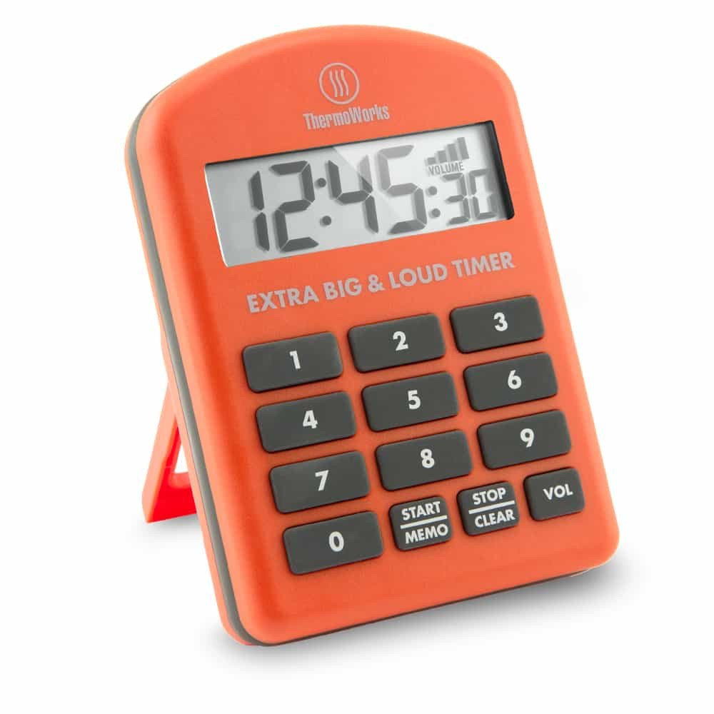 Thermoworks Extra Big and Loud Timer Orange