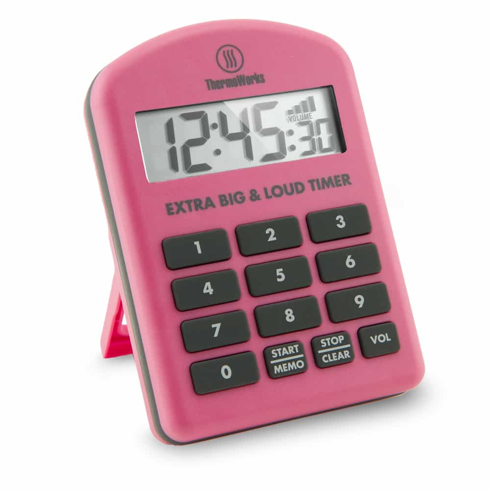 Thermoworks Extra Big and Loud Timer Pink