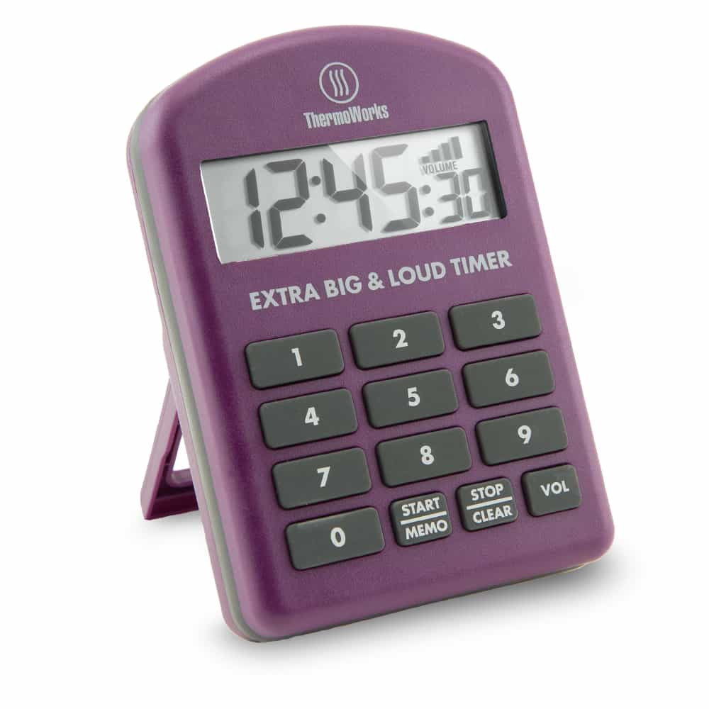 Thermoworks Extra Big and Loud Timer Purple