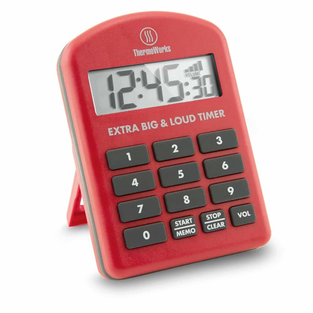 Thermoworks Extra Big and Loud Timer Red