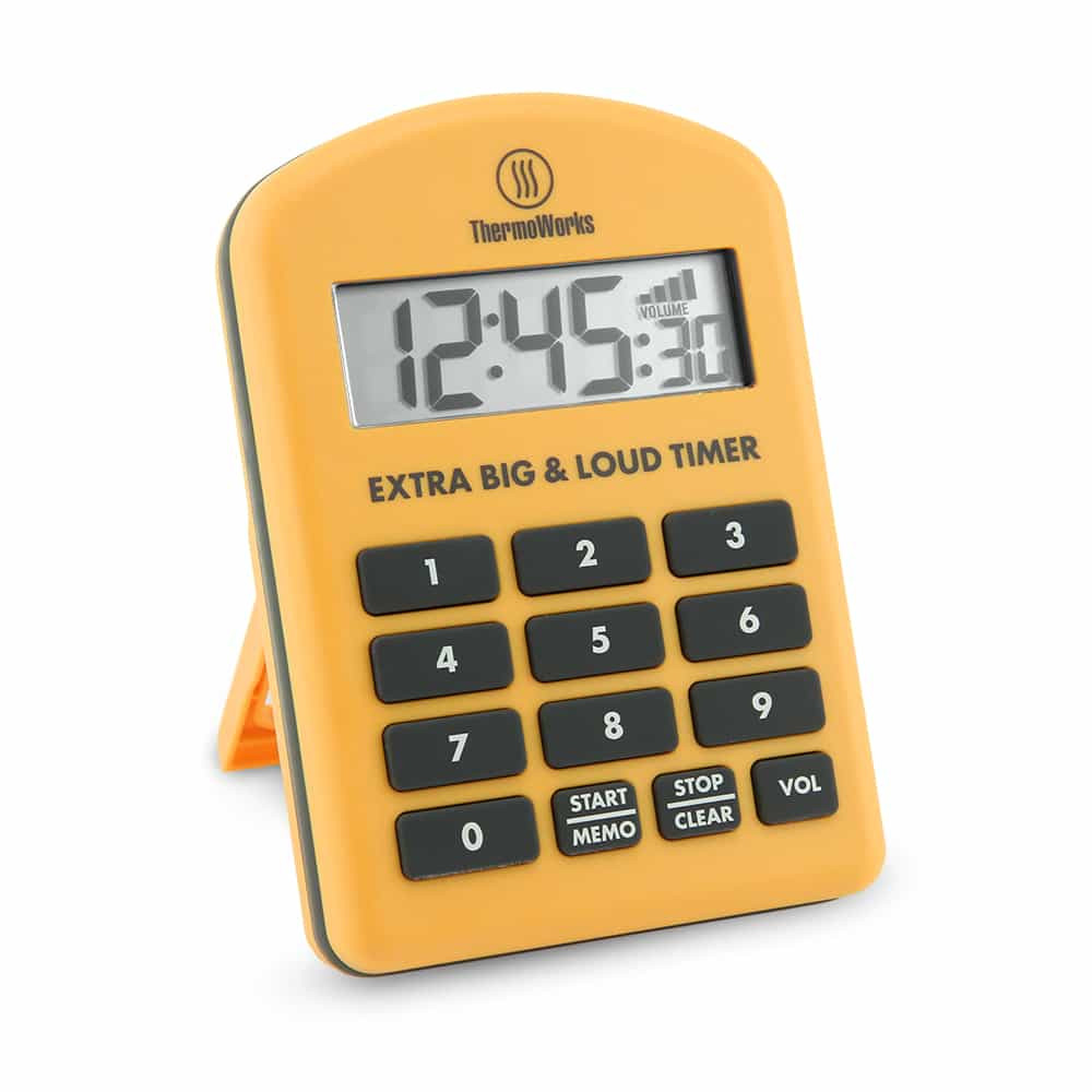 Thermoworks Extra Big and Loud Timer Yellow